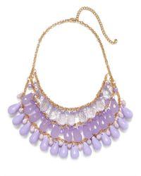 BaubleBar | Purple Lilac Teardrop Tier Bib | Lyst