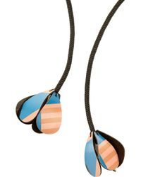 Marni - Black Cord and Vinyl Lariat Necklace - Lyst
