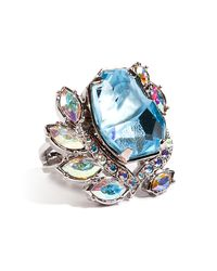 Mawi - Flower Gemstone Ring in Blue - Lyst