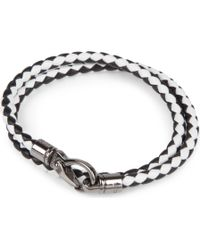 Tod's | White My Colours Plaited Leather Bracelet for Men | Lyst