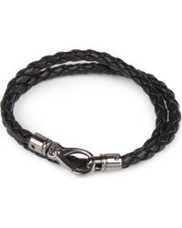 Tod's | Black My Colours Plaited Leather Bracelet for Men | Lyst
