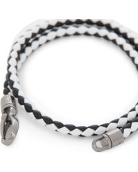 Tod's - White My Colours Plaited Leather Bracelet for Men - Lyst