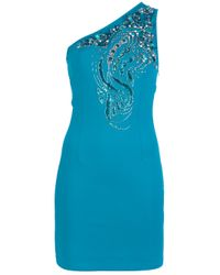 Amen | Blue Embellished Asymmetric Dress | Lyst