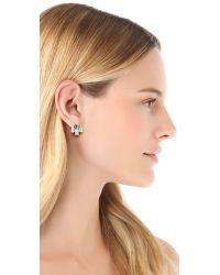 Auden - Metallic Crystal Stud Earrings Crystal - Lyst