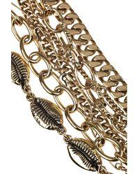Aurelie Bidermann - Metallic Clash 18karat Goldplated Multichain Necklace - Lyst