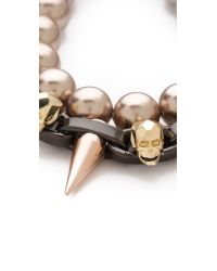 Joomi Lim | Metallic London Calling Skull Bracelet | Lyst