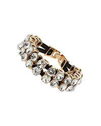 TOPSHOP | Metallic Premium Rhinestone Stone Bracelet | Lyst