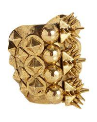 Fallon - Metallic Old Gold Warrior Cuff - Lyst