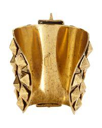 Fallon | Metallic Old Gold Warrior Cuff | Lyst