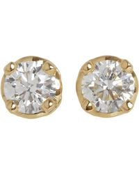 Hoorsenbuhs | White Diamond Gold Stud Earrings | Lyst