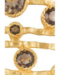 Kevia - Metallic 22karat Goldplated Quartz Cuff - Lyst