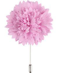 Lanvin - Pink Textured Flower Lapel Pin for Men - Lyst