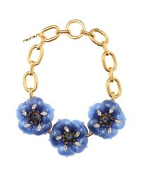 Miu Miu | Metallic Necklace with Oversized Flower Embellishment | Lyst