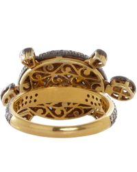 Munnu | Black Diamond Turtle Ring | Lyst