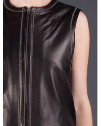 R + R Surplus - Black Leather Vest - Lyst