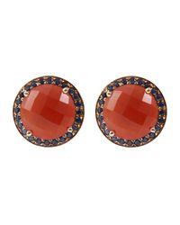 Andrea Fohrman - Orange Carnelian Stud Earrings - Lyst