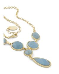 ModCloth | Blue Sea Glass Half Full Necklace | Lyst