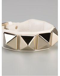 Valentino - White Studded Bracelet - Lyst