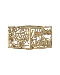 Vivienne Westwood | Metallic Line Square Ring | Lyst