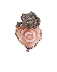 Wendy Yue - Carved Pink Opal Flower Ring - Lyst