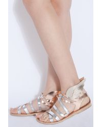 Ancient Greek Sandals | Multicolor Multi Strap New Winged Sandals | Lyst