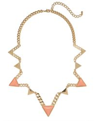 BaubleBar | Orange Zigzag Triad Collar | Lyst