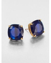 kate spade new york | Blue Faceted Square Stud Earrings | Lyst