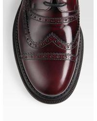 Dolce & Gabbana | Purple Wingtip Oxfords for Men | Lyst