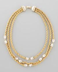 Rachel Zoe | Metallic Threestrand Twisted Chain Necklace | Lyst
