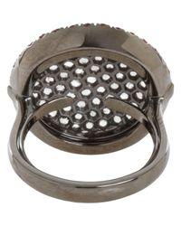 Roberto Marroni - White Copper Sapphire & Grey Diamond Sand Ring - Lyst