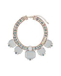 TOPSHOP - White Premium Stone Thread Collar - Lyst