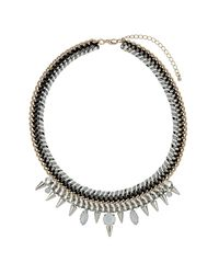 TOPSHOP - Multicolor Cord and Stone Collar - Lyst
