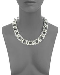 1AR By Unoaerre - Metallic Twisted Rope Double Link Necklace - Lyst