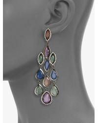 ABS By Allen Schwartz - Multicolor Chandelier Earrings - Lyst