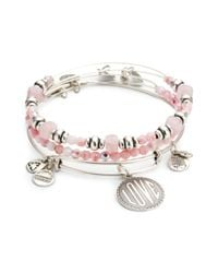 ALEX AND ANI | Pink May Bangle Set | Lyst