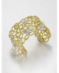 Alexis Bittar - Metallic Jeweled Openwork Cuff Bracelet - Lyst