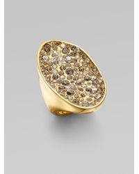 Alexis Bittar | Metallic Swarovski Crystal Encrusted Pool Ring | Lyst