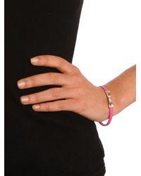 BaubleBar - Pink Bow Band Bracelet - Lyst