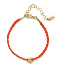 BaubleBar | Metallic Red Star Braid Bracelet | Lyst