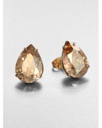 Bing Bang | Metallic Oversized Teardrop Stud Earrings | Lyst