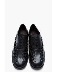 Damir Doma - Black Leather Lacedup Feter Oxfords for Men - Lyst