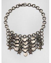 DANNIJO - Metallic Marinella Stars Hearts Chainmail Bib Necklace - Lyst
