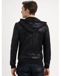 Dolce & Gabbana | Black Hooded Bomber Jacket for Men | Lyst