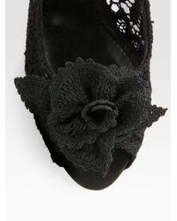 Dolce & Gabbana - Black Lace Platform Pumps - Lyst