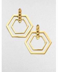 Eddie Borgo | Metallic Double Hexagon Earrings | Lyst