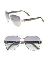 Fendi | Gray Spy Metal Aviator Sunglasses | Lyst