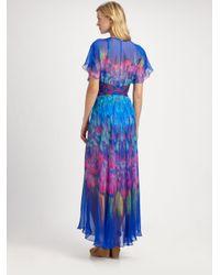 Gottex | Blue Silk Beach Dress | Lyst