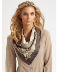 Gucci | Brown Kramer Silk Foulard | Lyst