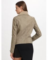 Helmut Lang - Black Leather & Jersey Mini Skirt - Lyst