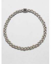 John Hardy | Metallic Classic Chain Black Sapphire & Sterling Silver Small Braided Necklace | Lyst